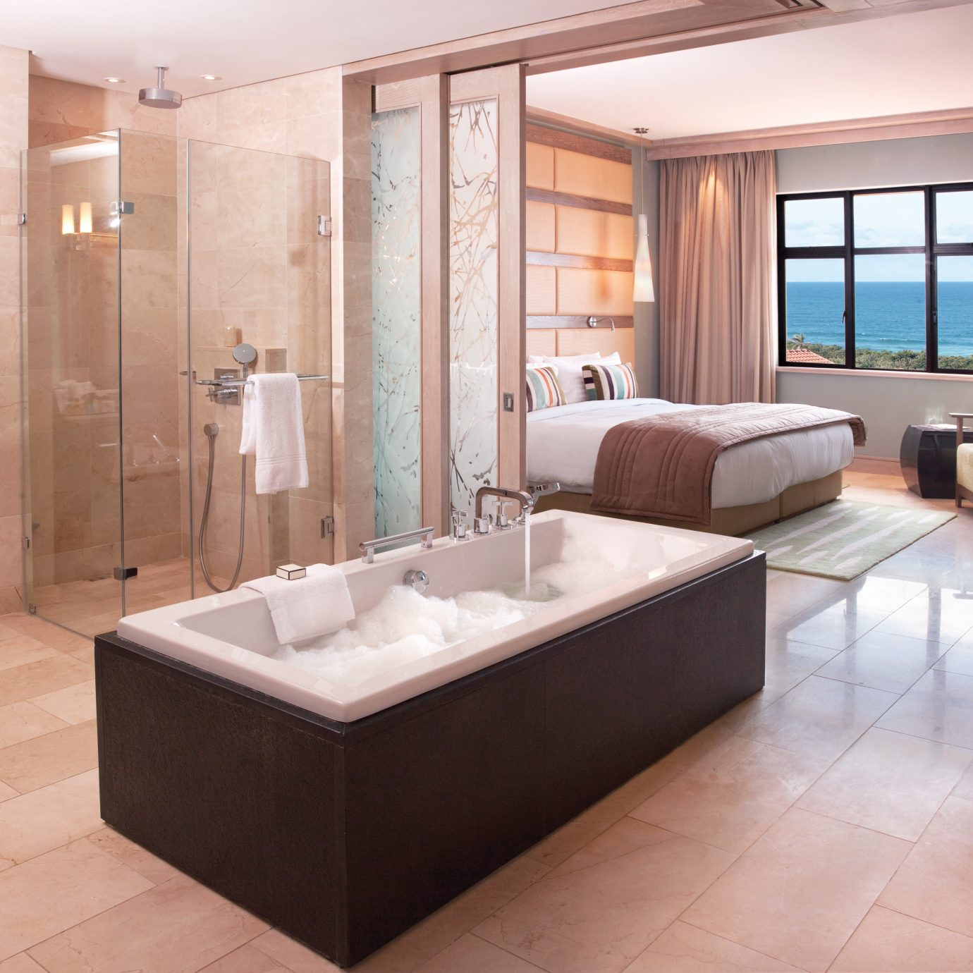bathroom property swimming pool sink Suite bathtub flooring tub Modern tiled tile