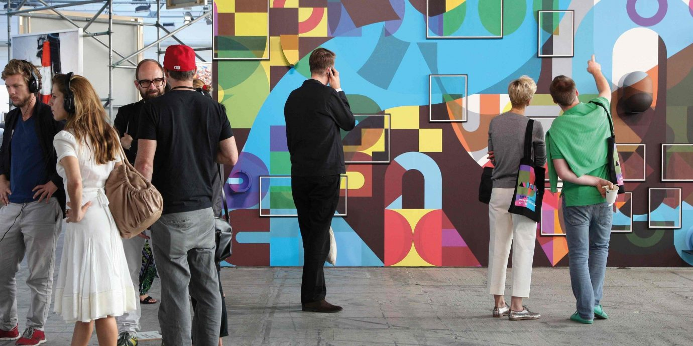 Arts + Culture person ground color art art exhibition