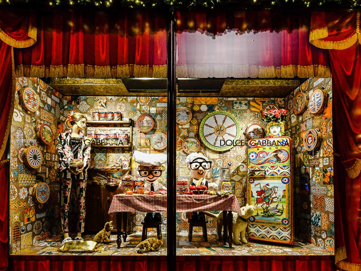 Offbeat Winter stage colorful tradition lighting shrine decorated display window window art theatre christmas decoration theatrical scenery fête night decor bazaar christmas lights different colored altar