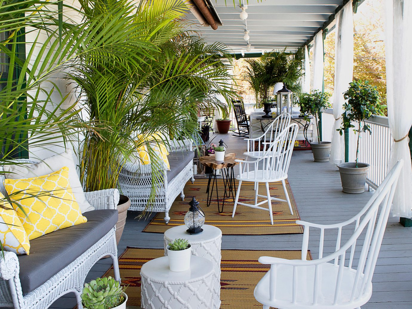 Outdoor space at The Chequit, Shelter Island, NY
