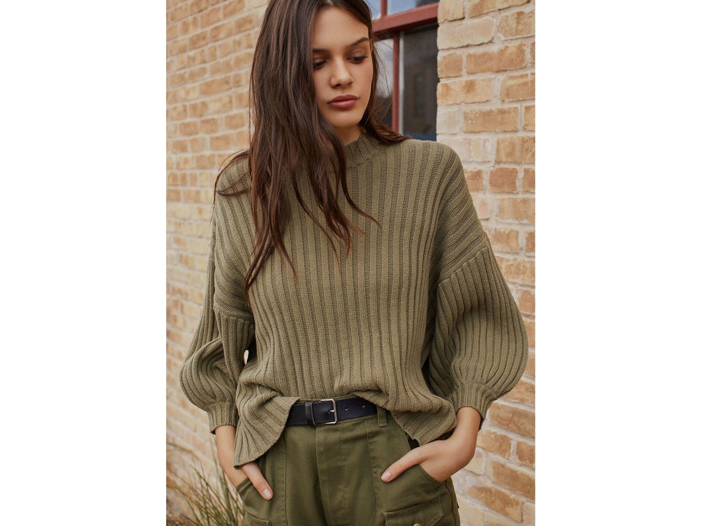 City NYC Style + Design Travel Shop person sweater woolen sleeve shoulder neck outerwear brick beige poncho wool knitting top