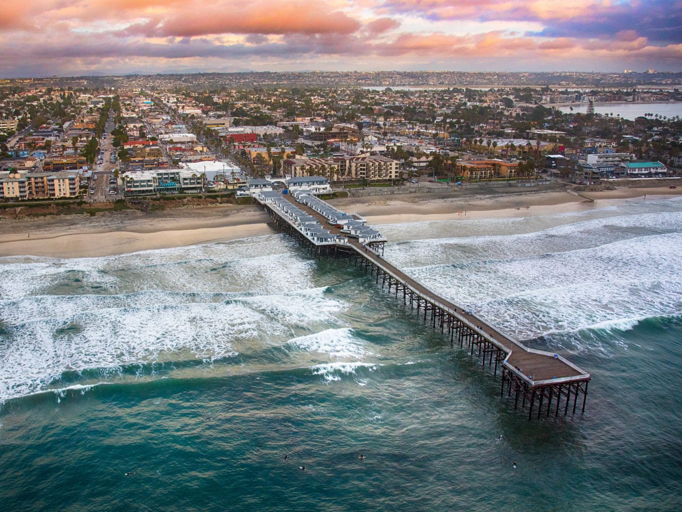 Beach Hotels Trip Ideas water sky outdoor Sea body of water Coast River shore Ocean cityscape vacation wave bay aerial photography dusk reflection Harbor