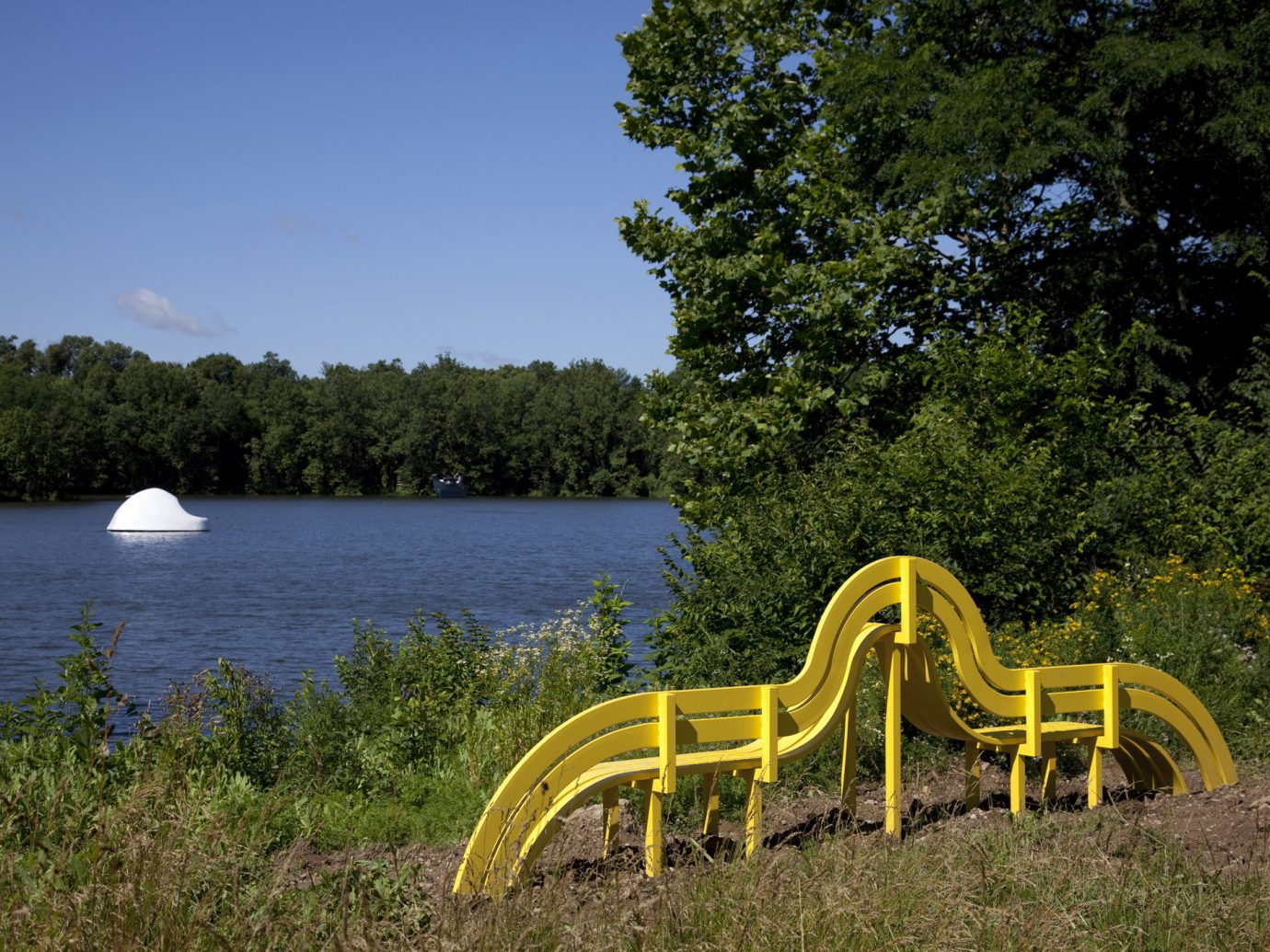 Trip Ideas Weekend Getaways tree outdoor sky water bench grass Lake Nature wooden park meadow overlooking chair seat flower pond surrounded lush