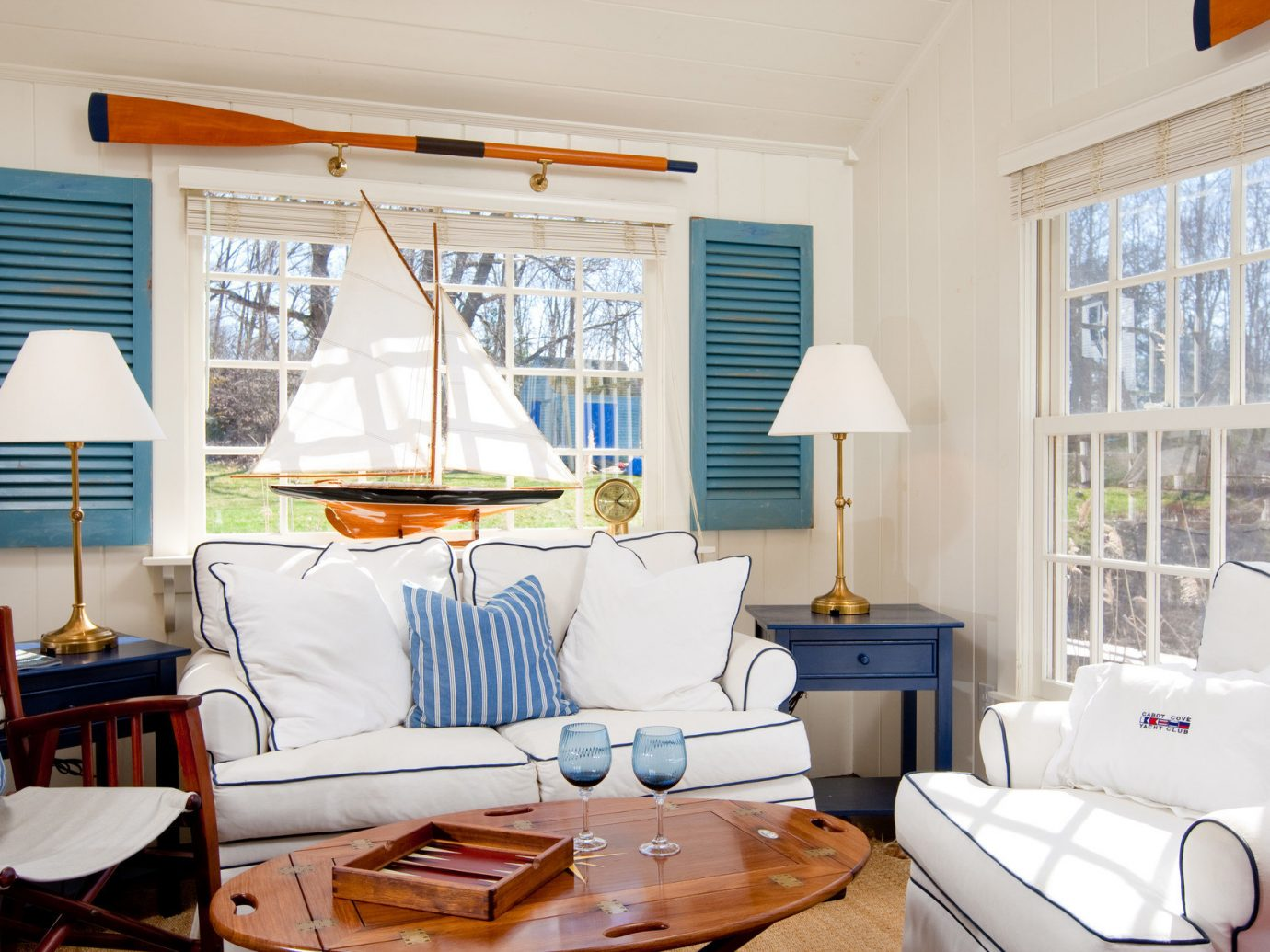 Living room at The Cottages at Cabot Cove, Maine