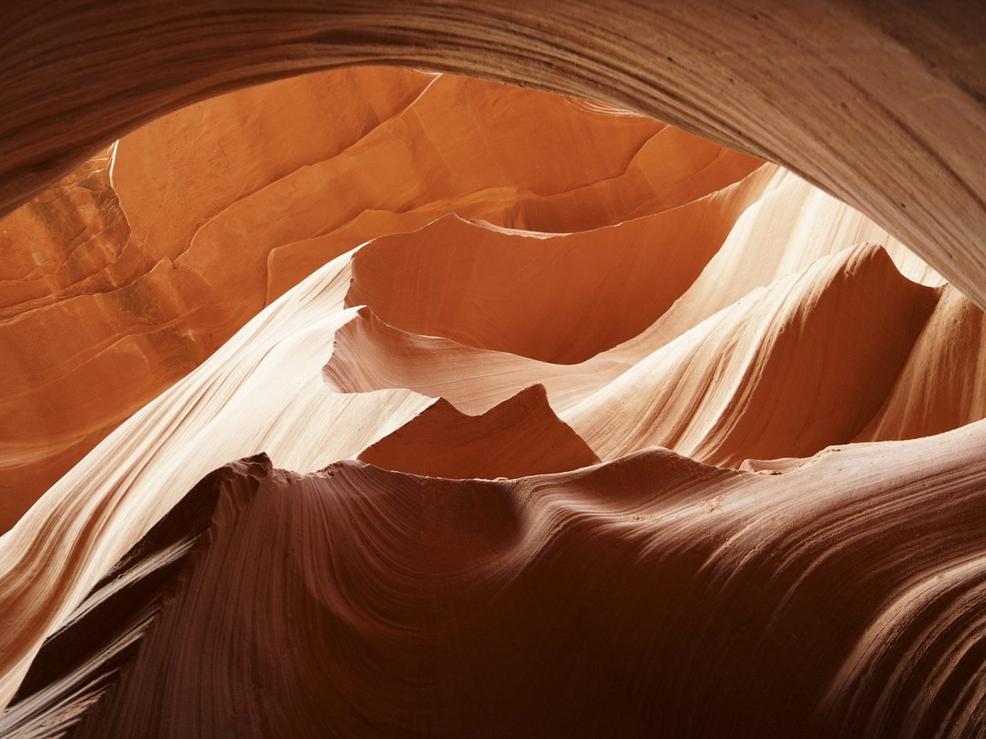 America American Southwest Road Trips indoor light wood Nature sunlight computer wallpaper sky landscape formation canyon stock photography peach