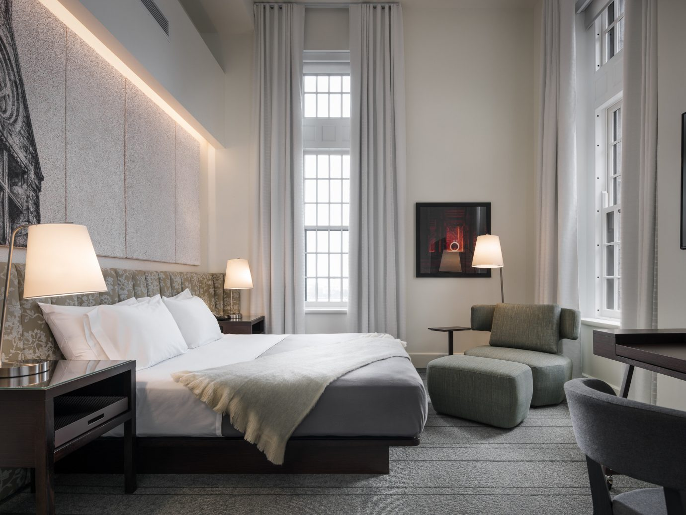 Trip Ideas indoor floor room wall window chair hotel interior design Living Suite bed frame ceiling furniture Bedroom interior designer living room bed flooring decorated