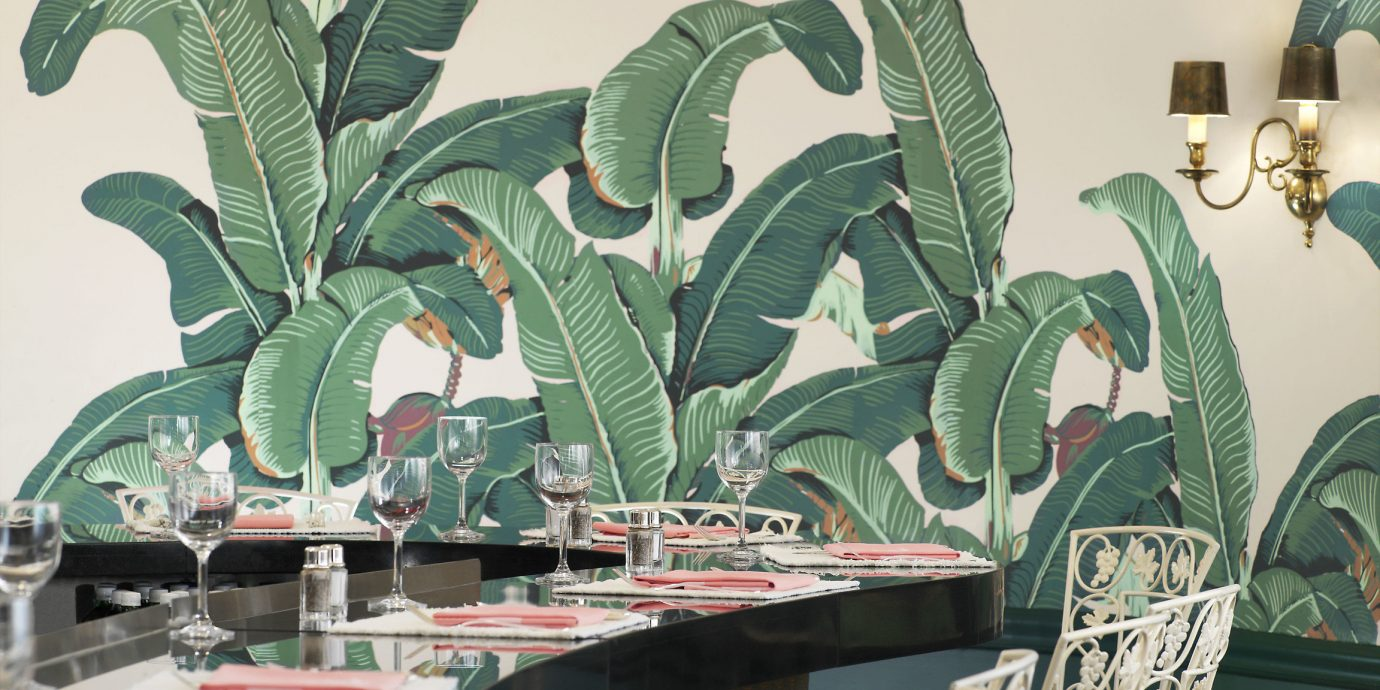 Hotels Style + Design Trip Ideas indoor green flora art flower leaf painting Design illustration dining table