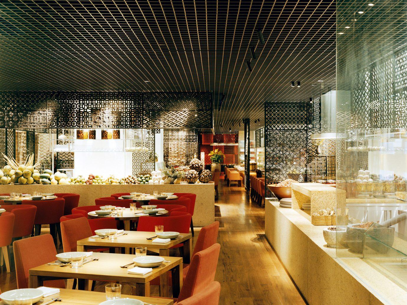 Dining Drink Eat Elegant Food + Drink Lounge Modern table indoor floor chair Lobby restaurant interior design meal Design furniture dining room