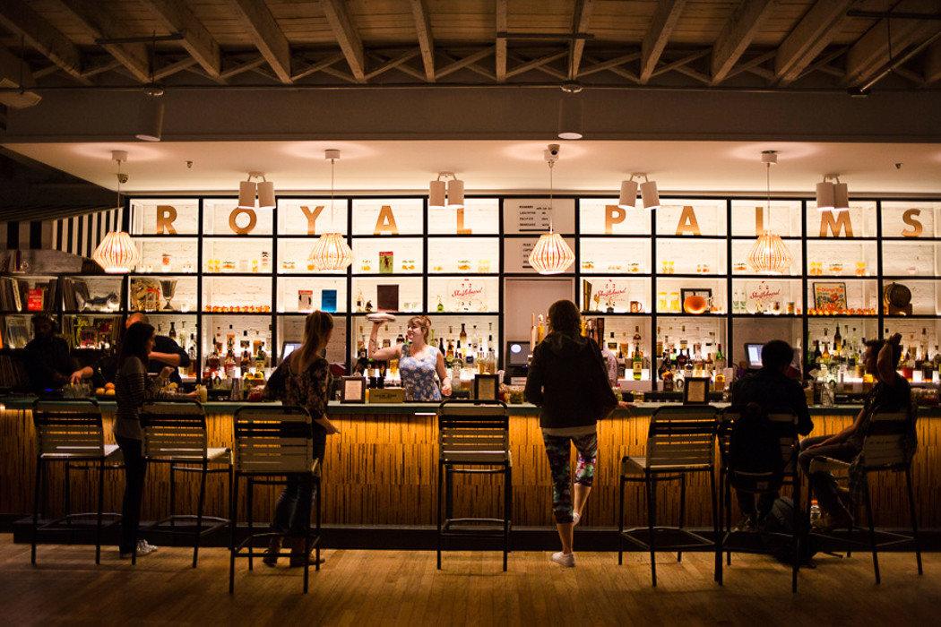 Bar at the Royal Palms Shuffleboard Club in Brooklyn, NY