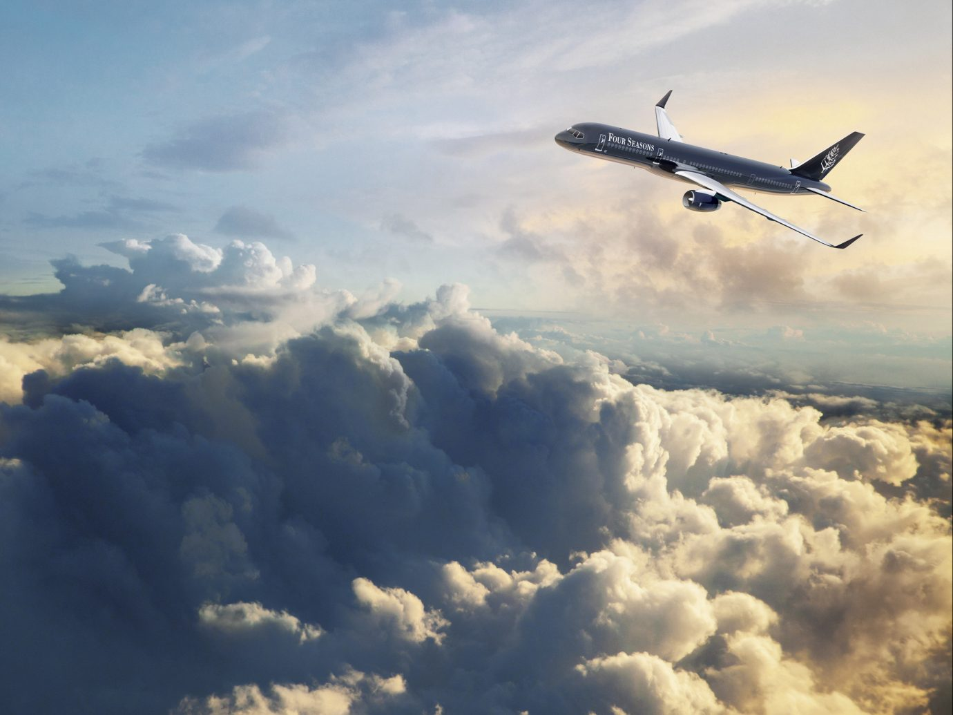 Trip Ideas sky outdoor flying plane aircraft transport airplane cloud clouds cloudy air travel airline cumulus flight air atmosphere vehicle atmosphere of earth aviation airliner air force takeoff wing meteorological phenomenon high day land