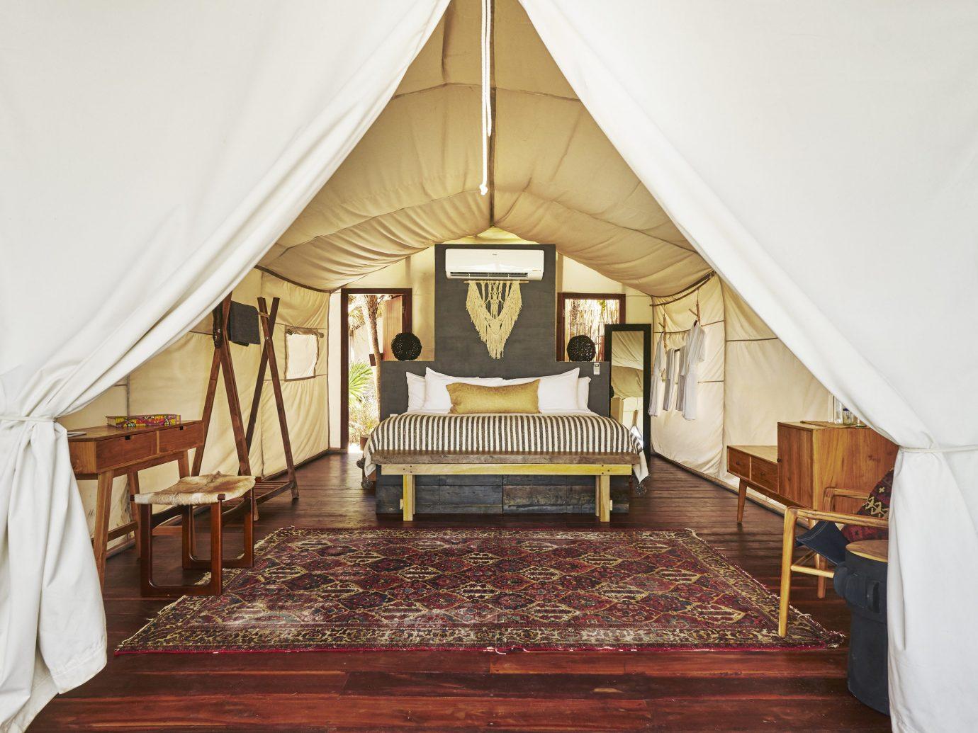 Boutique Hotels Hotels Mexico Tulum indoor floor room tent Living ceiling furniture interior design flooring