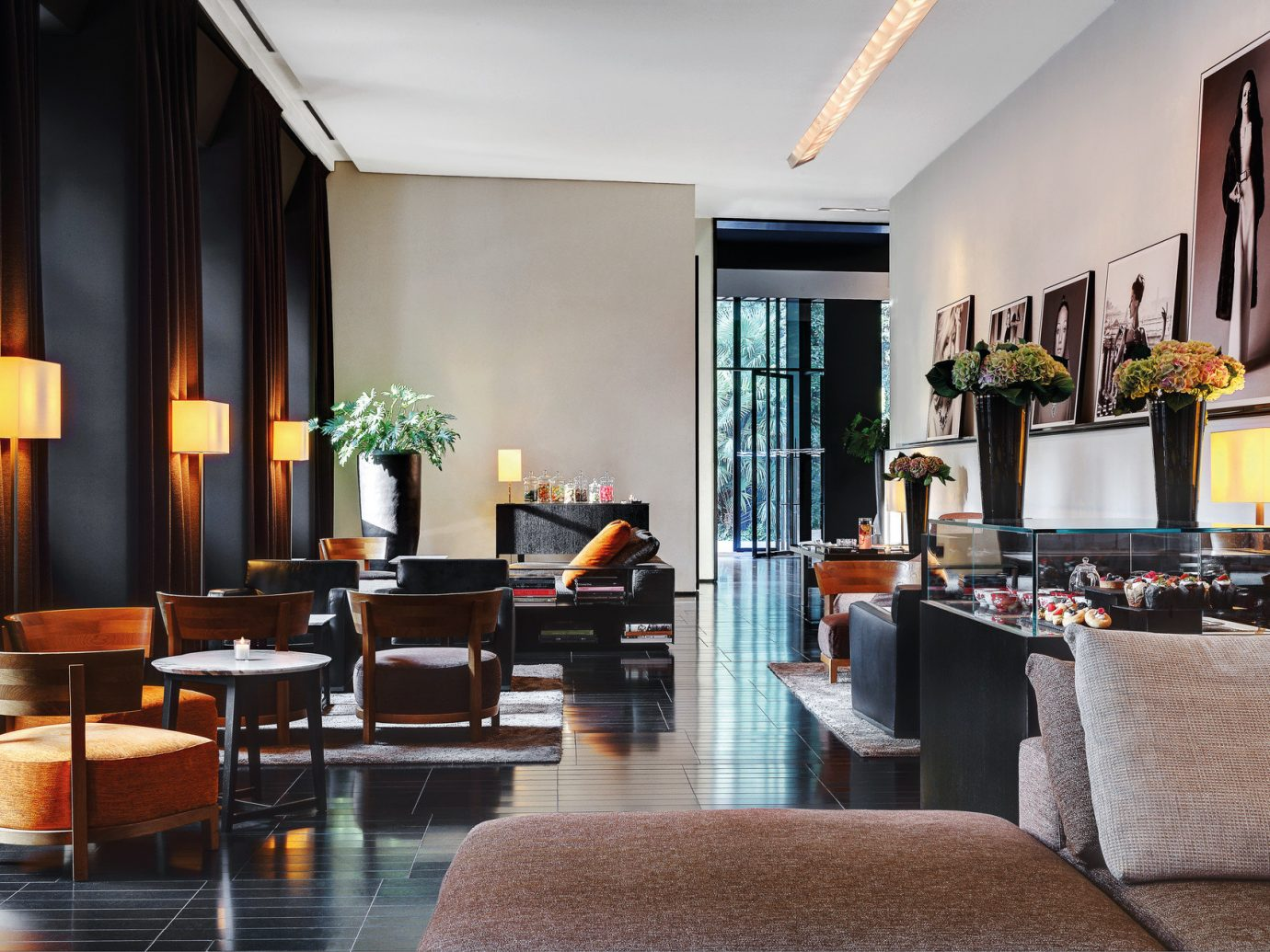 ambient lighting chic clean Hotels interior Italy Lounge lounge chairs Luxury Milan relaxation seating Spa indoor room wall Living property ceiling living room dining room home estate interior design furniture floor real estate Design Lobby condominium decorated area several
