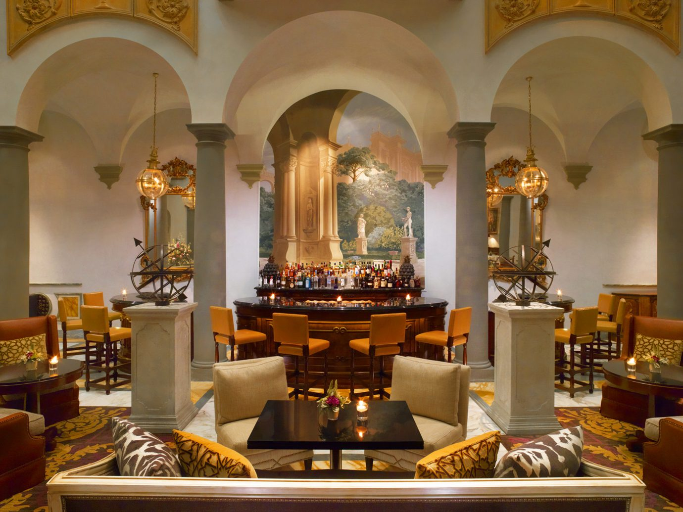 Bar Elegant Florence Historic Hotels Italy Lounge Luxury wall indoor room estate interior design altar living room