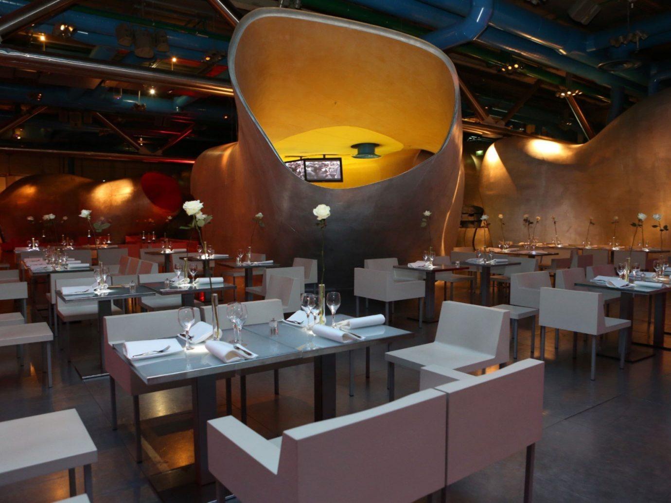 Food + Drink indoor floor ceiling meal restaurant interior design vehicle