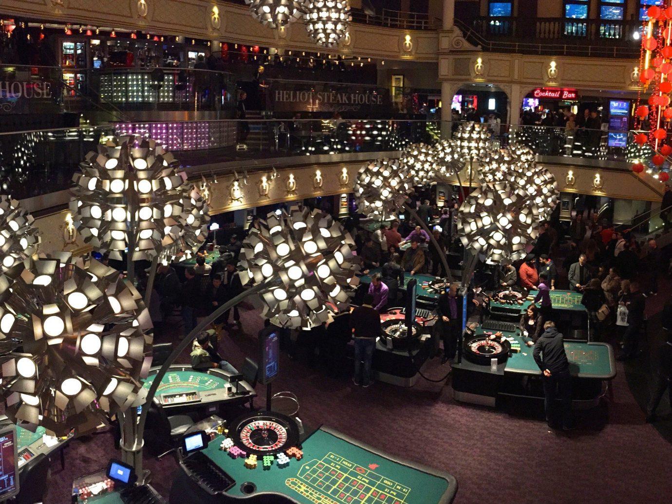 Hotels indoor building nightclub Casino games crowd