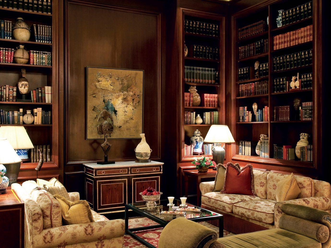 Boutique Hotels Historic Hotels Living Lounge Luxury indoor living room room shelf home interior design estate furniture Design cluttered