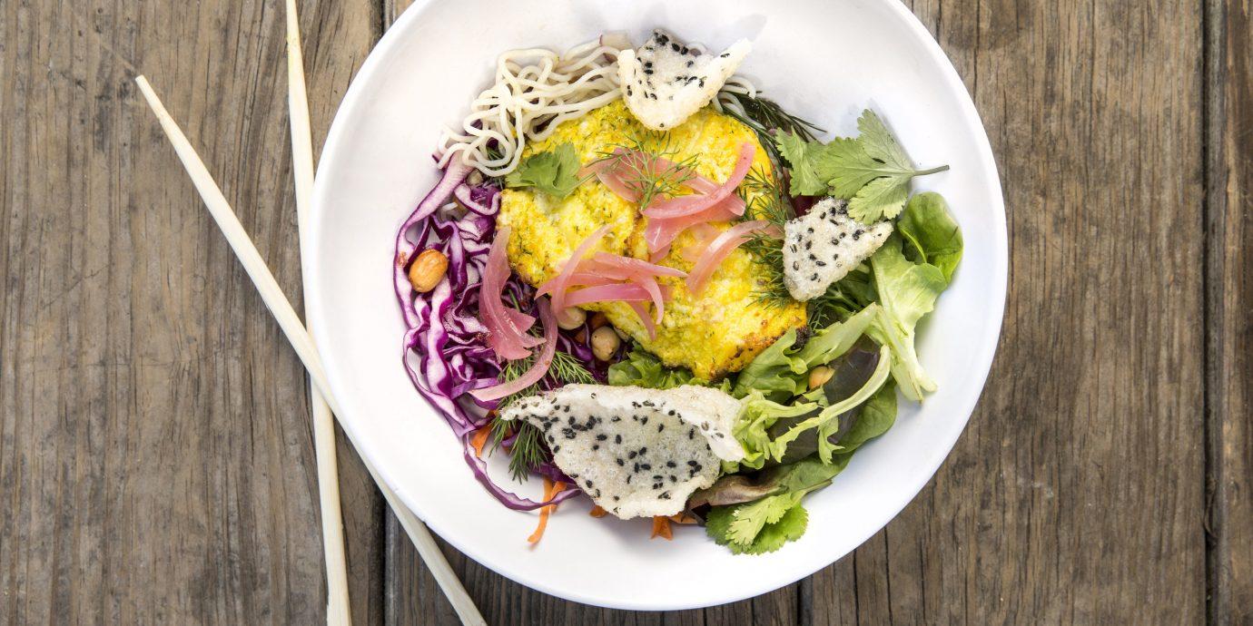 Food + Drink plate food table wooden dish produce vegetable salad meal cuisine flowering plant wood