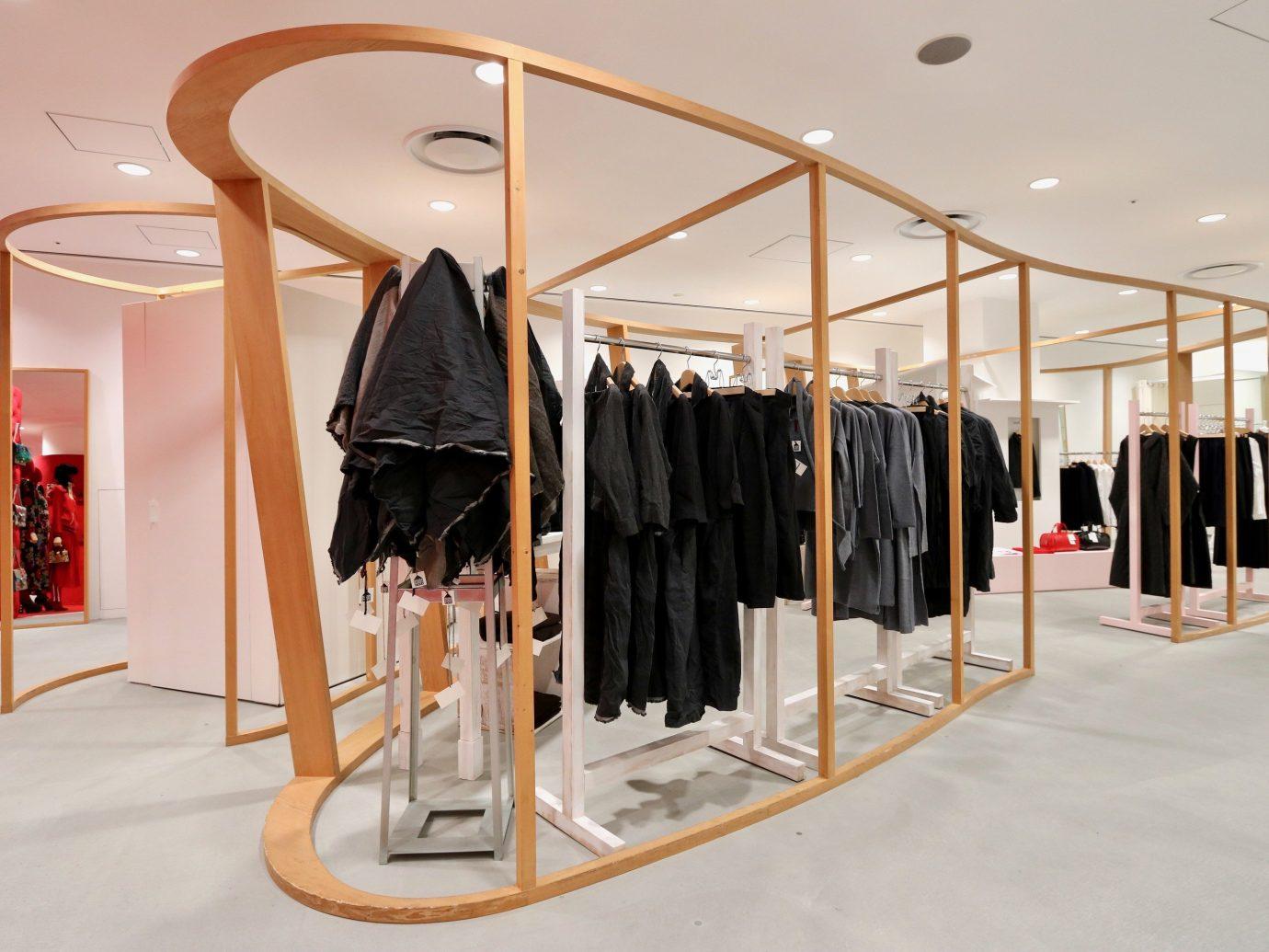 shopping Style + Design Travel Trends Trip Ideas indoor Boutique exhibition interior design product design clothes hanger furniture retail flooring product