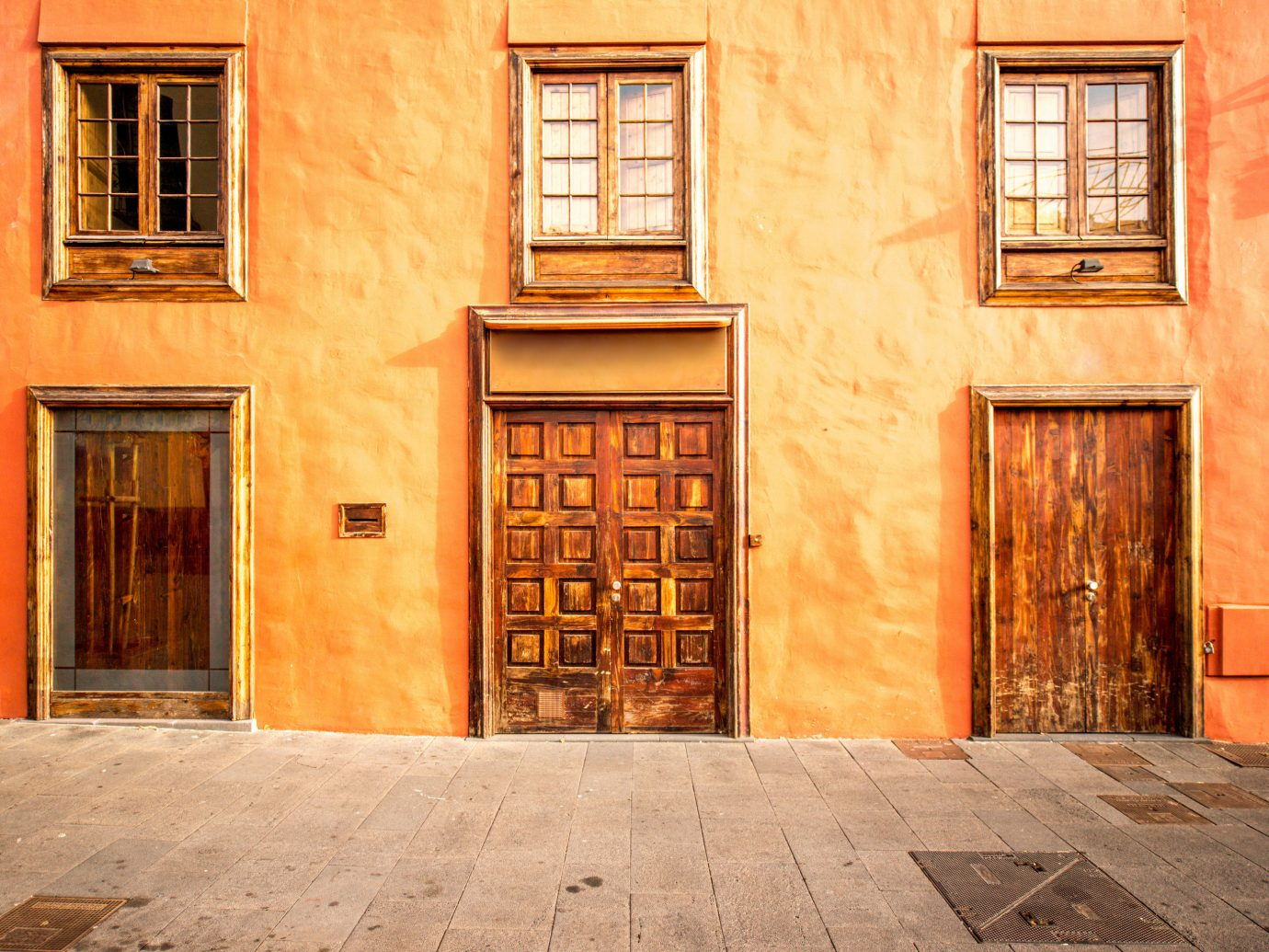 Offbeat building color outdoor door wall Architecture house facade home wood estate interior design window brick stone