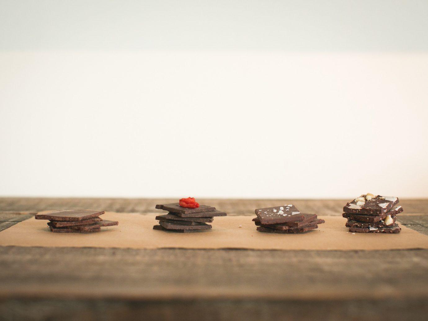 Food + Drink wood art table shape