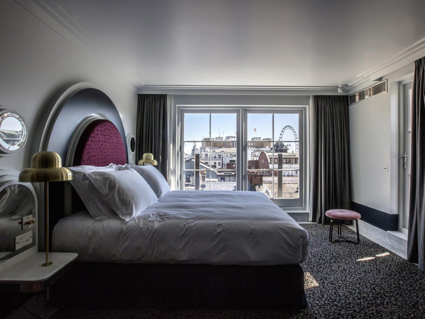 Boutique Hotels London Romantic Hotels indoor wall bed floor room window interior design Bedroom ceiling hotel furniture home Suite bed frame mattress