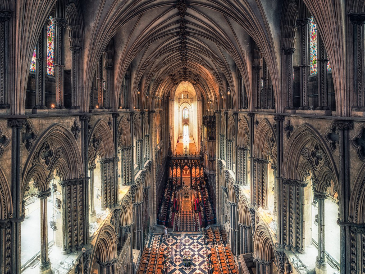 Arts + Culture Offbeat building cathedral indoor place of worship medieval architecture chapel byzantine architecture religious institute vault gothic architecture Church basilica arch symmetry historic site altar crypt stock photography window abbey several