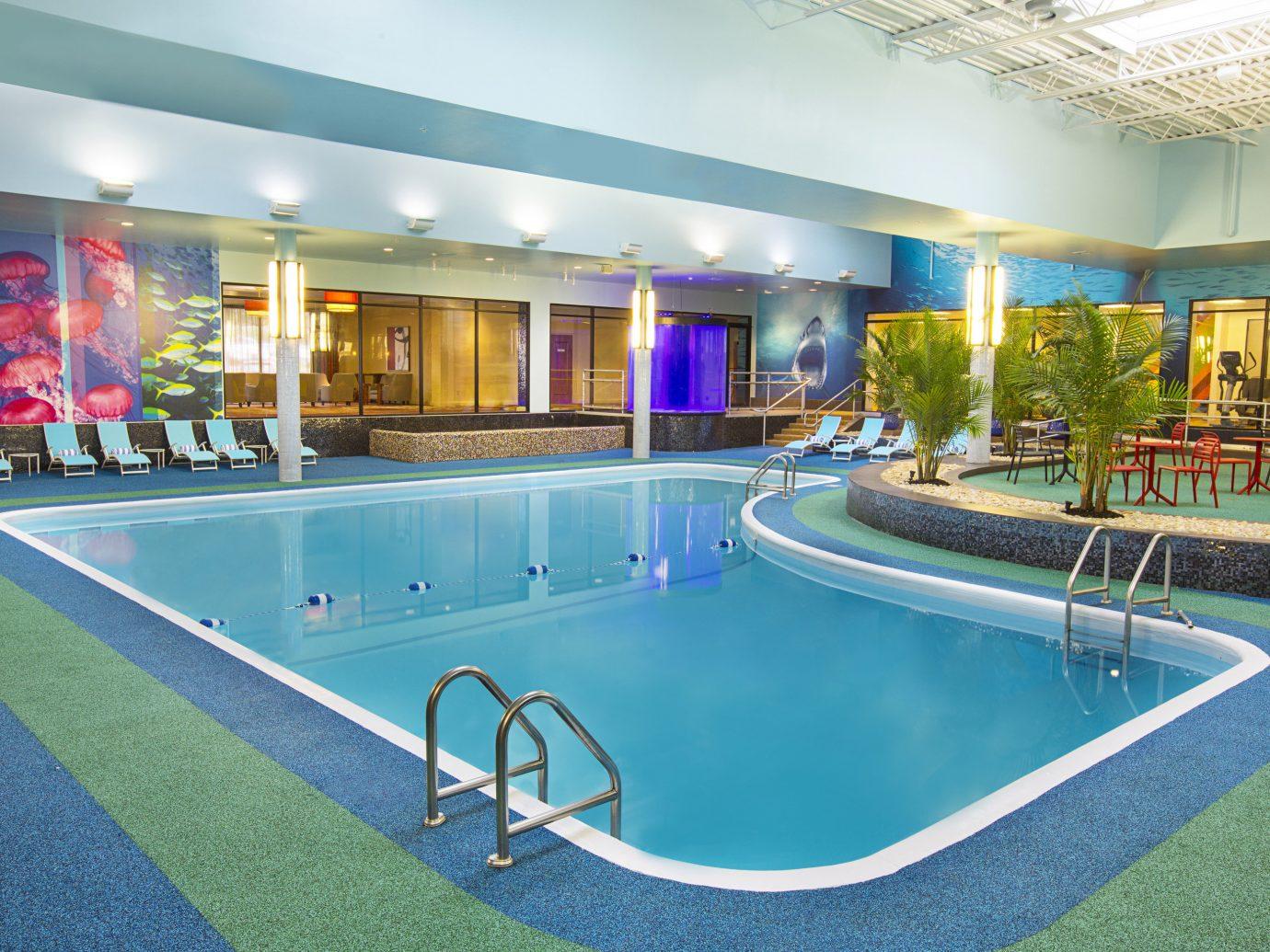 Hotels leisure leisure centre swimming pool ceiling real estate Resort recreation resort town estate hotel water thermae condominium amenity blue
