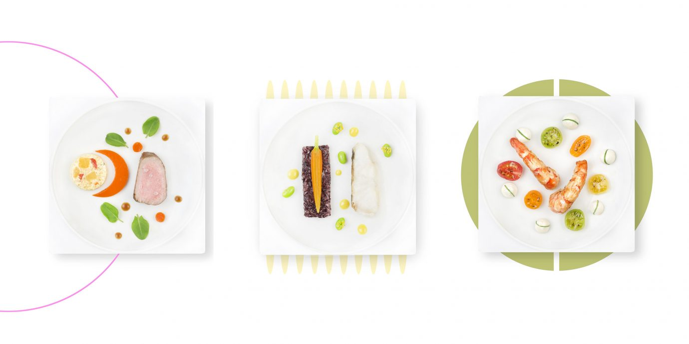Offbeat cartoon product food produce illustration label