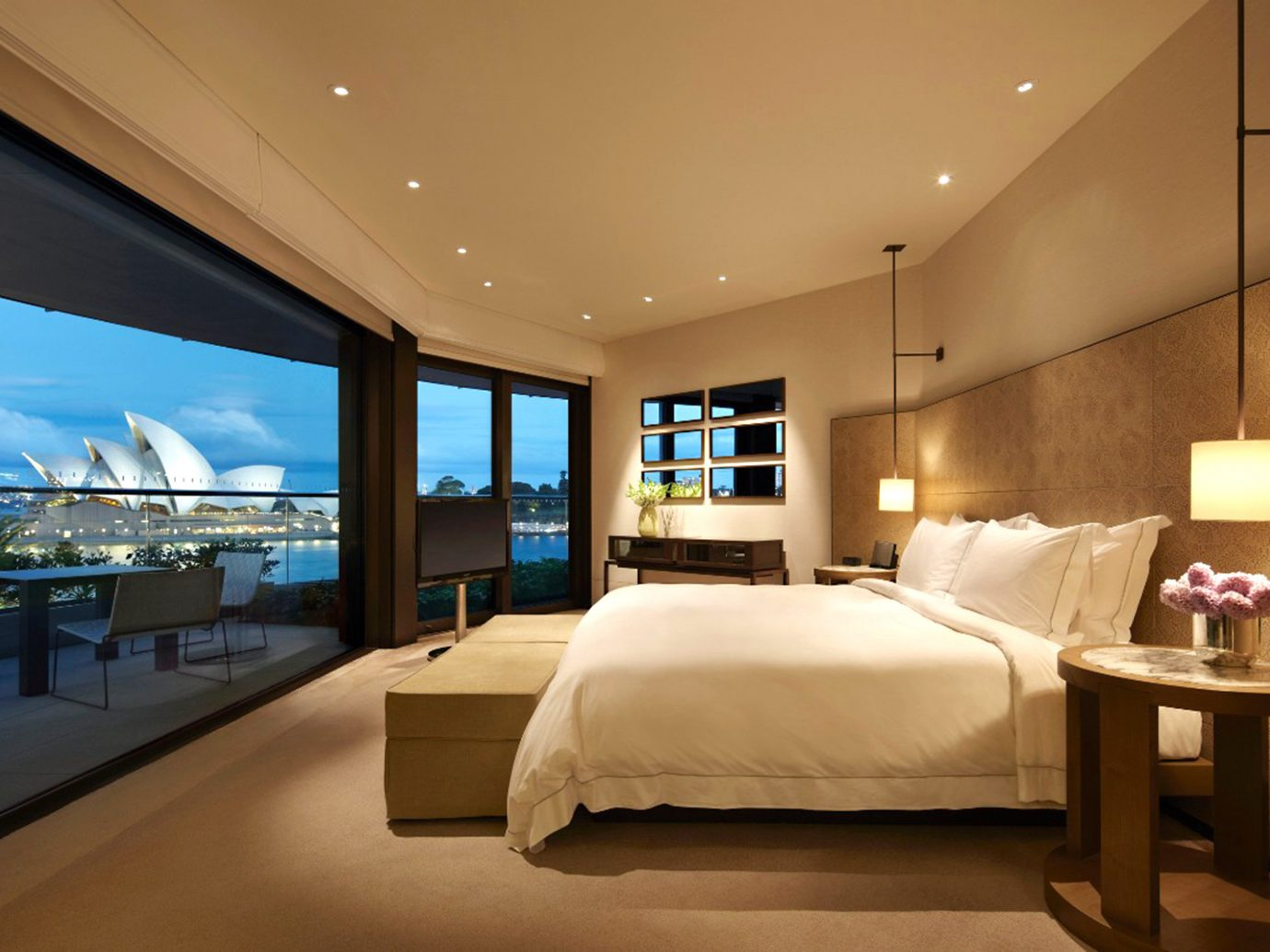 Bedroom Hotels Luxury Modern Patio Scenic views Suite Trip Ideas indoor floor ceiling wall bed hotel room property window estate interior design yacht home real estate living room passenger ship