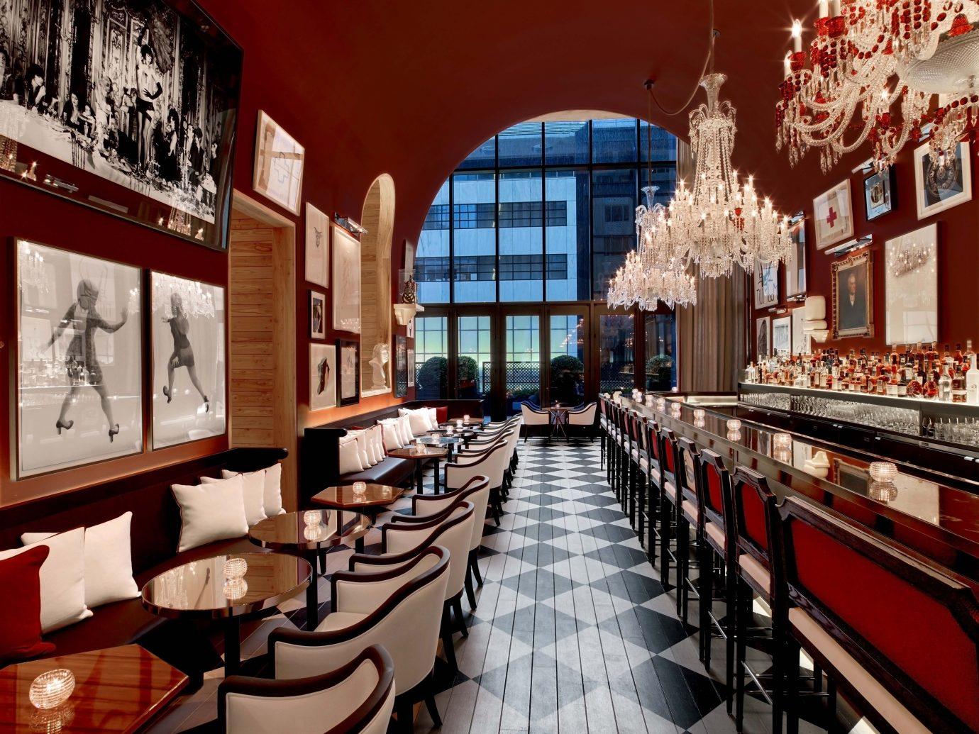 Baccarat Hotel & Residences, Best Hotels in NYC, restaurant meal interior design Bar café dining room