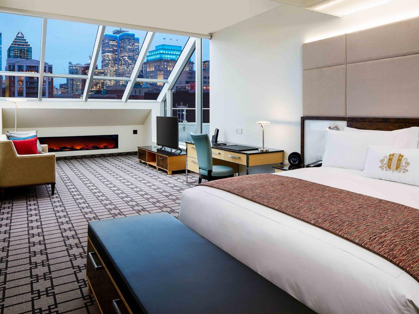 Canada Hotels Montreal Trip Ideas indoor wall bed floor room ceiling window Suite Bedroom real estate interior design hotel containing