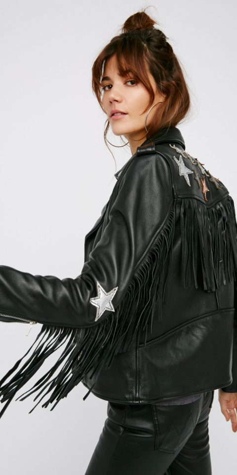 Style + Design person clothing black leather jacket fur clothing leather jacket fashion fur textile photo shoot model outerwear material costume