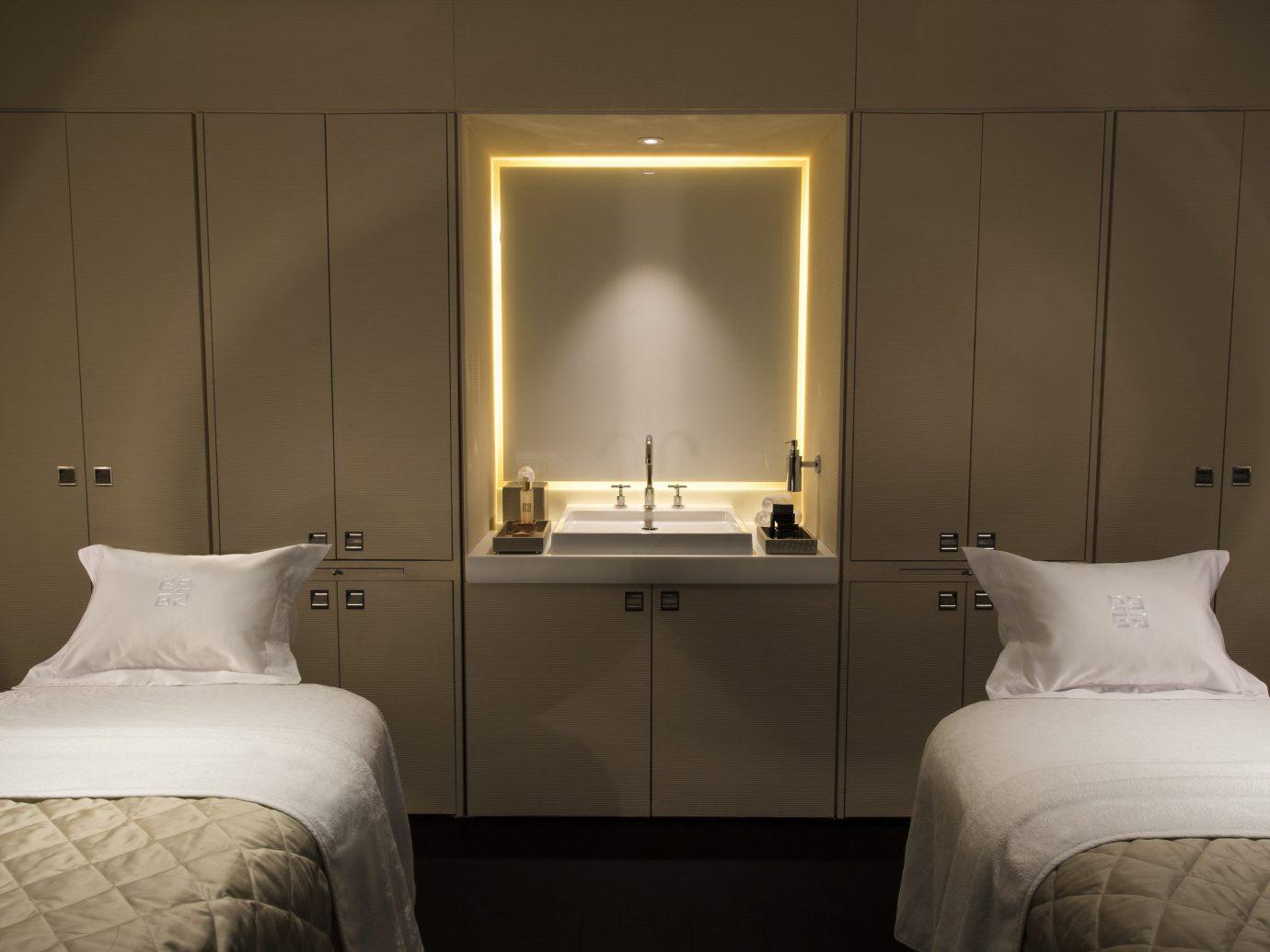 Hotels Romance bed wall indoor room Bedroom hotel interior design lighting pillow home window white Suite floor ceiling flooring night lamp