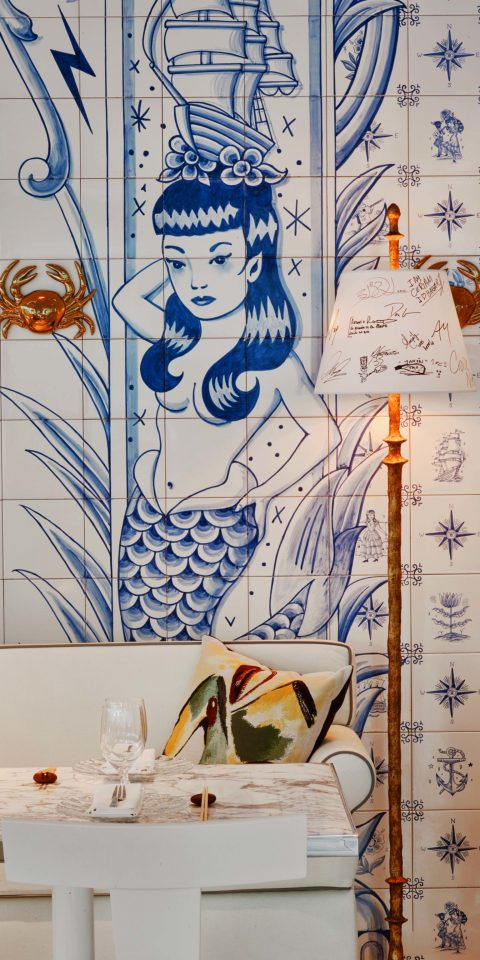 Trip Ideas indoor text wall art mural Design sketch interior design drawing illustration