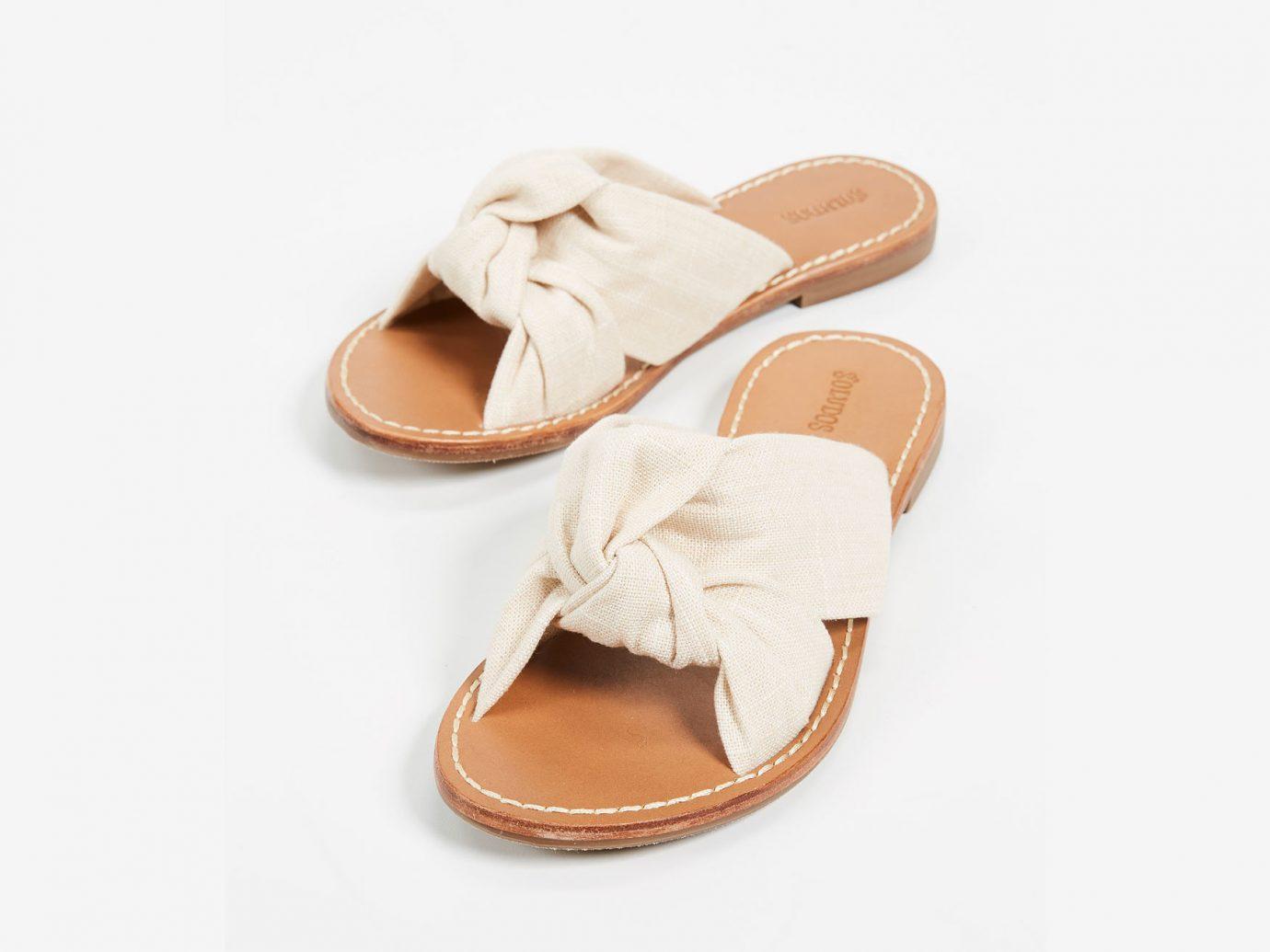 Morocco Packing Tips Style + Design Travel Shop footwear sandal shoe flip flops beige product peach outdoor shoe product design