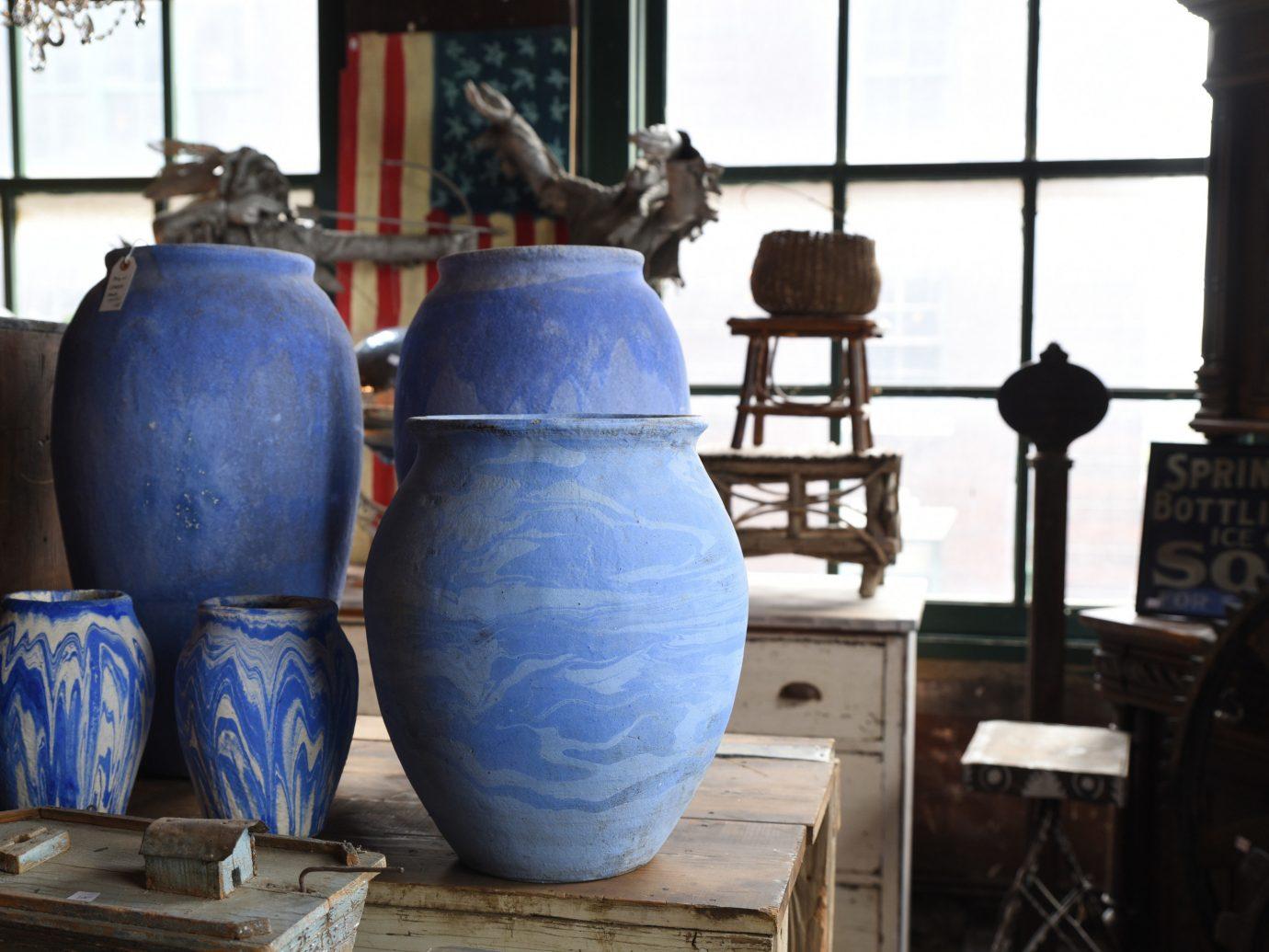 Trip Ideas man made object blue art drum