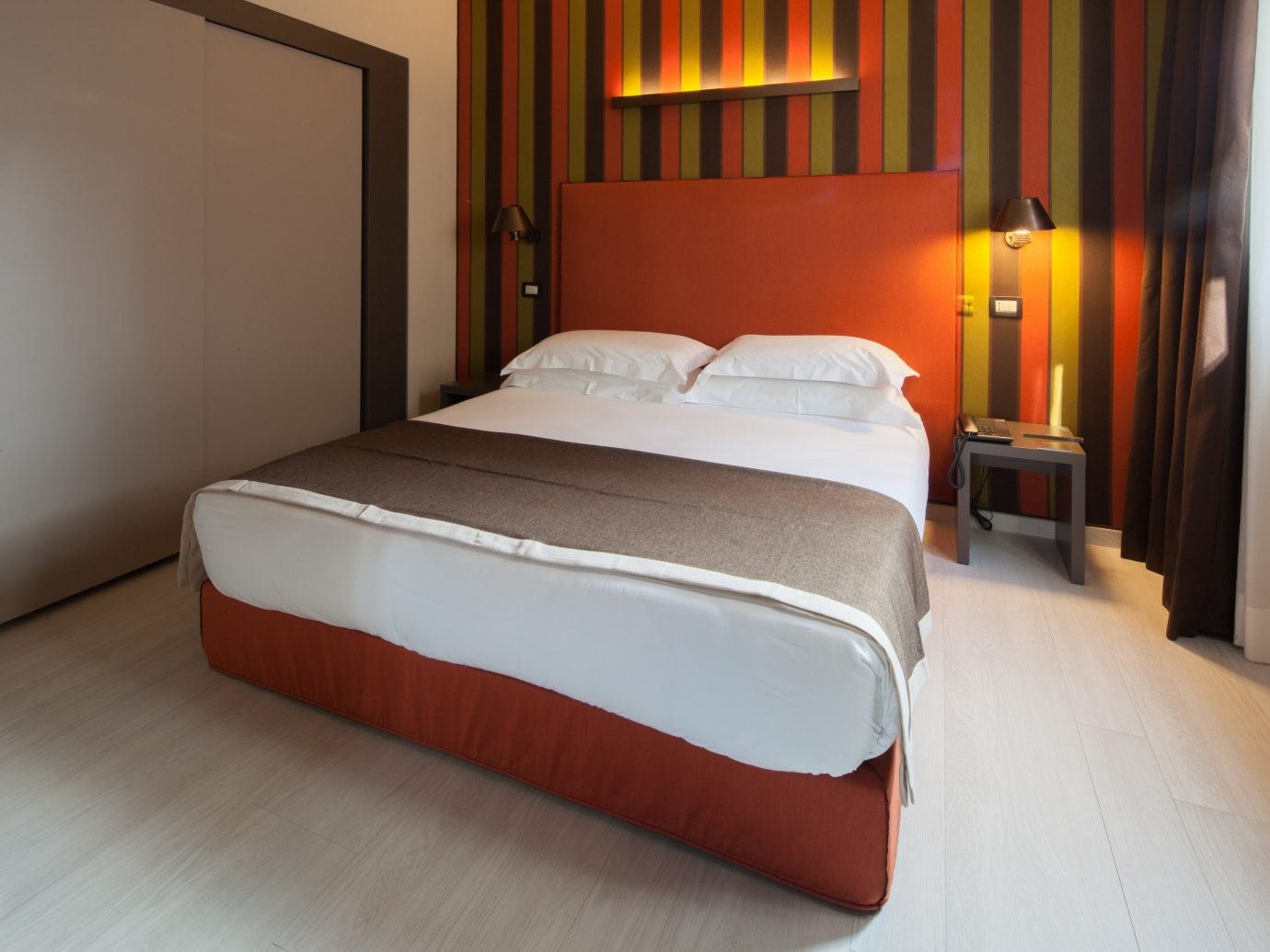 Hotels Italy Milan bed floor wall indoor Bedroom room Suite bed frame hotel furniture interior design real estate mattress comfort bed sheet