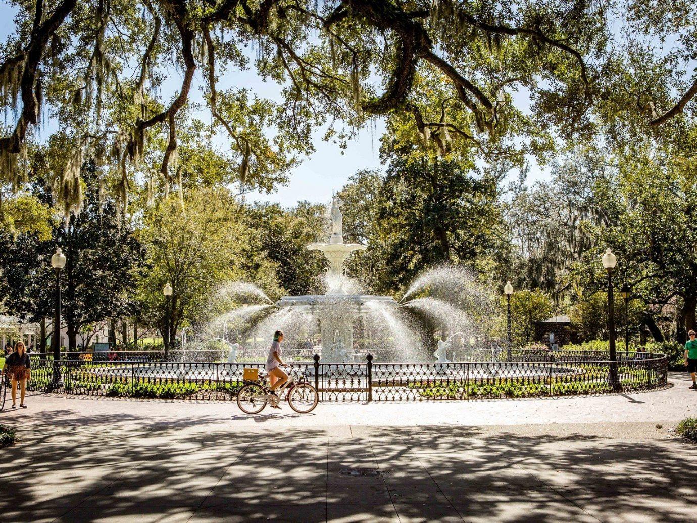 Fountain in a park at Savannah, GA