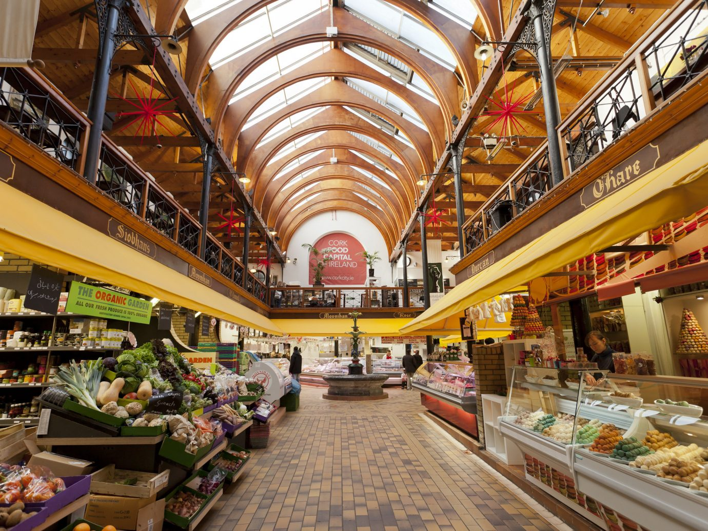 Dublin Ireland Trip Ideas indoor marketplace grocery store supermarket market retail scene bazaar whole food shopping mall pastry convenience food store grocer City greengrocer shopping aisle displayed