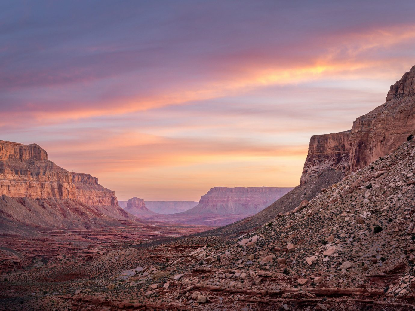 Natural wonders Offbeat Scenic views Trip Ideas valley canyon mountain outdoor sky Nature mountainous landforms geographical feature landform butte natural environment sunrise rock Sunset badlands landscape Desert dawn wadi plateau cliff dusk geology terrain formation lone dry hillside