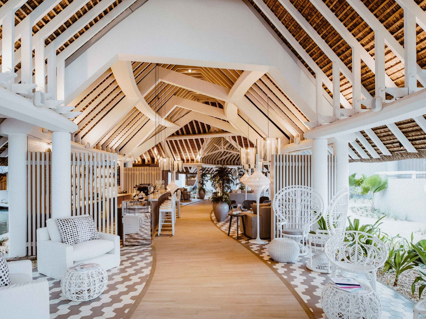 chair indoor building floor room Living interior design ceiling estate home furniture Lobby wood Dining real estate daylighting porch