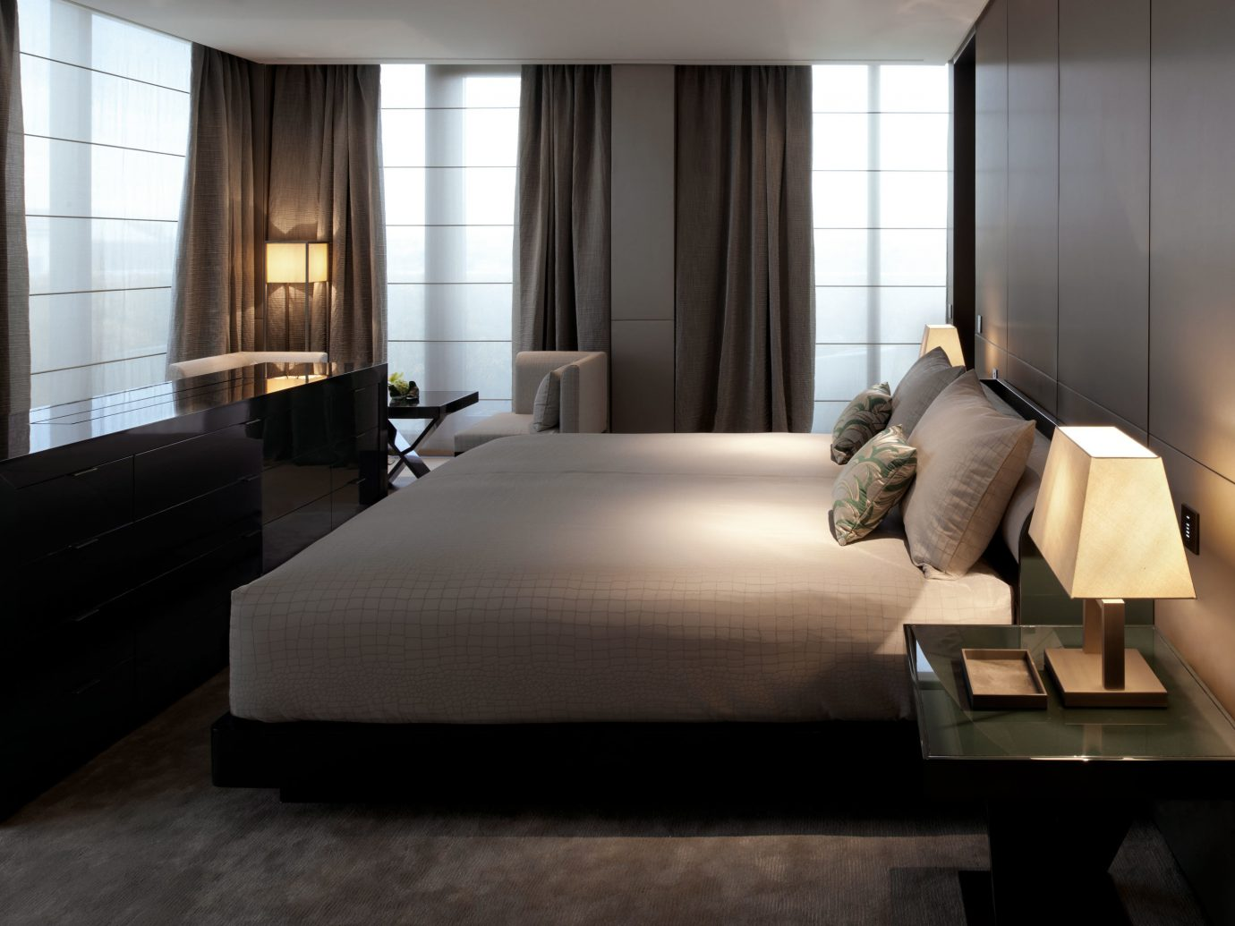 Bedroom Hotels Italy Luxury Milan Modern Suite indoor floor window room wall sofa bed property living room hotel ceiling interior design furniture Design window covering