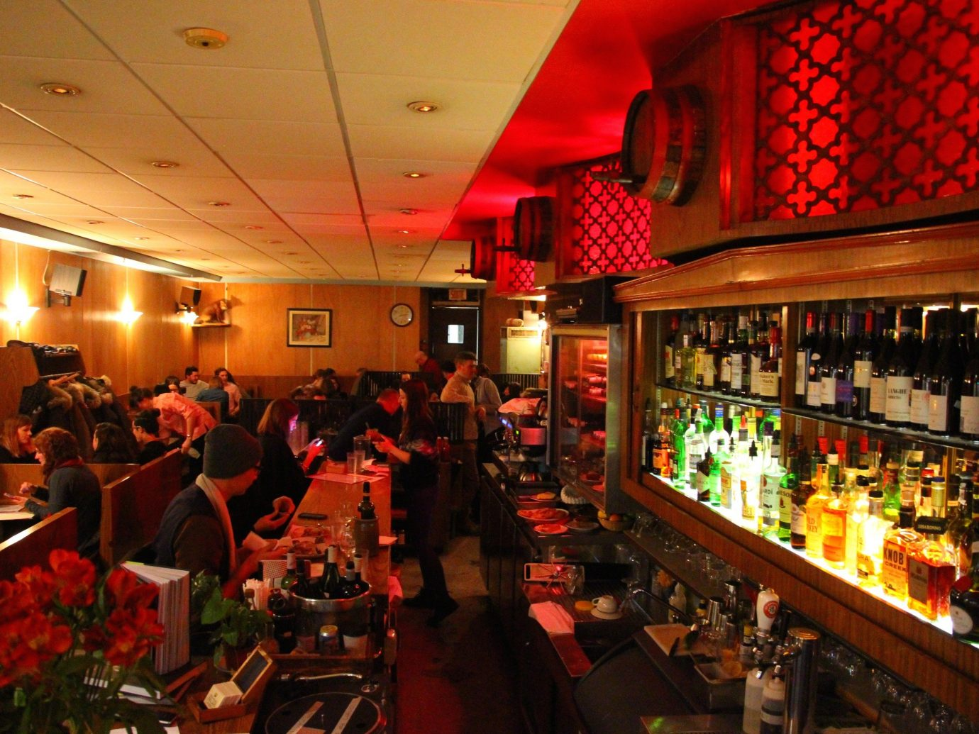 Food + Drink indoor ceiling person Bar restaurant meal several