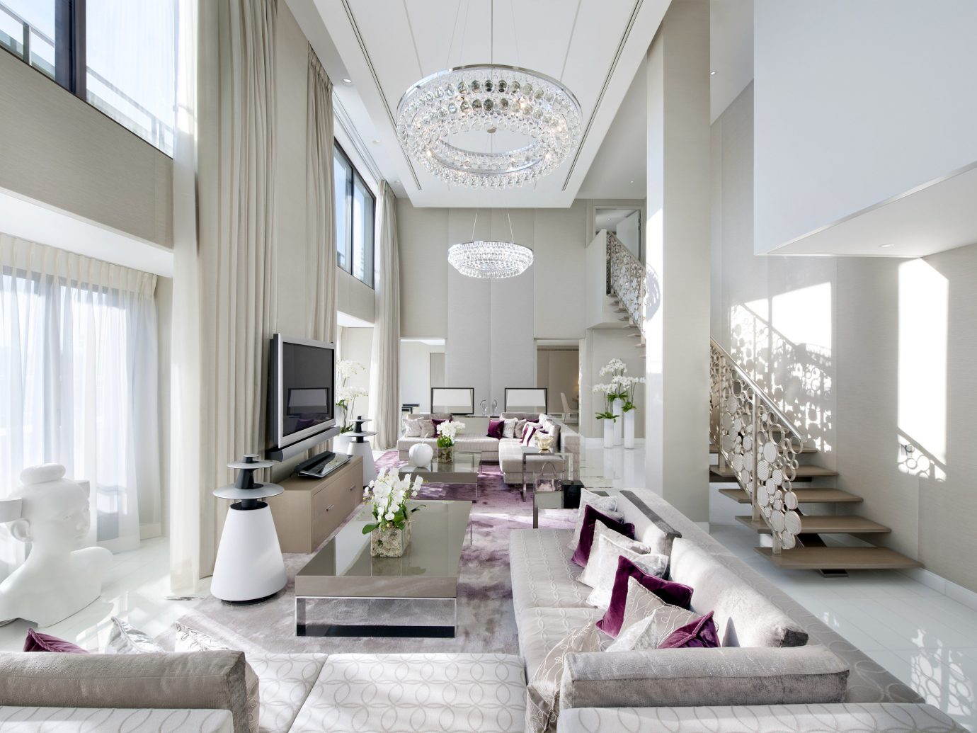 Hotels Luxury Travel indoor window wall interior design Living living room room Architecture ceiling furniture home interior designer decorated product design house loft daylighting apartment penthouse apartment Modern