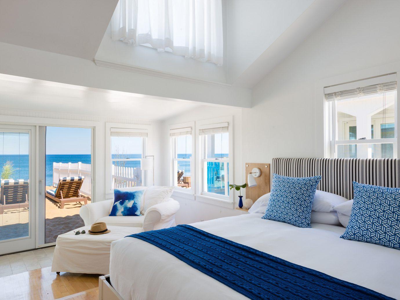 Bedroom at Blue Inn on the Beach, MA