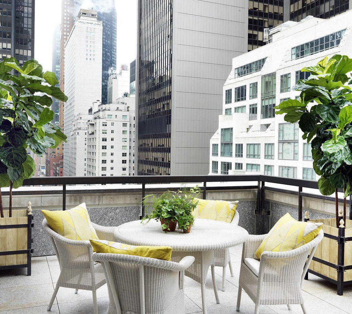 Hotels NYC outdoor room furniture home interior design table Design Courtyard condominium backyard area