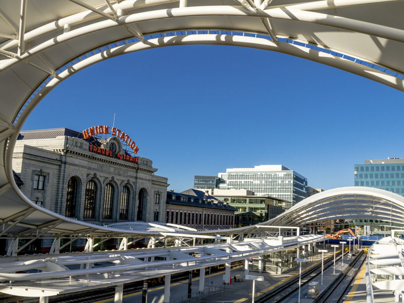 Food + Drink building outdoor structure transport landmark Architecture sport venue public transport stadium overpass bridge skyway arena cityscape arch shopping mall dome opera house convention center