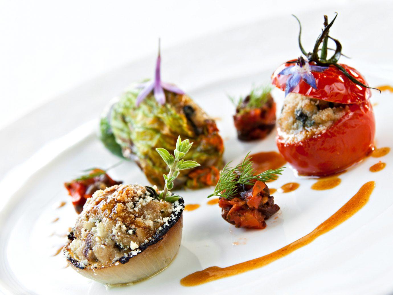 Trip Ideas plate food dish piece produce cuisine hors d oeuvre land plant white vegetable meat slice flowering plant dessert arranged piece de resistance