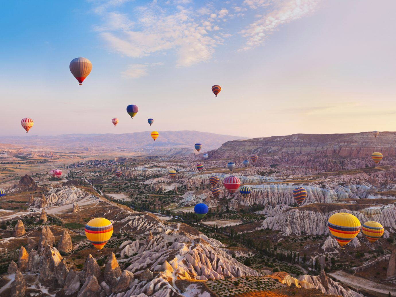 Luxury Outdoors Resort Scenic views Trip Ideas sky aircraft balloon transport hot air ballooning Hot Air Balloon outdoor vehicle atmosphere of earth toy extreme sport Raft several