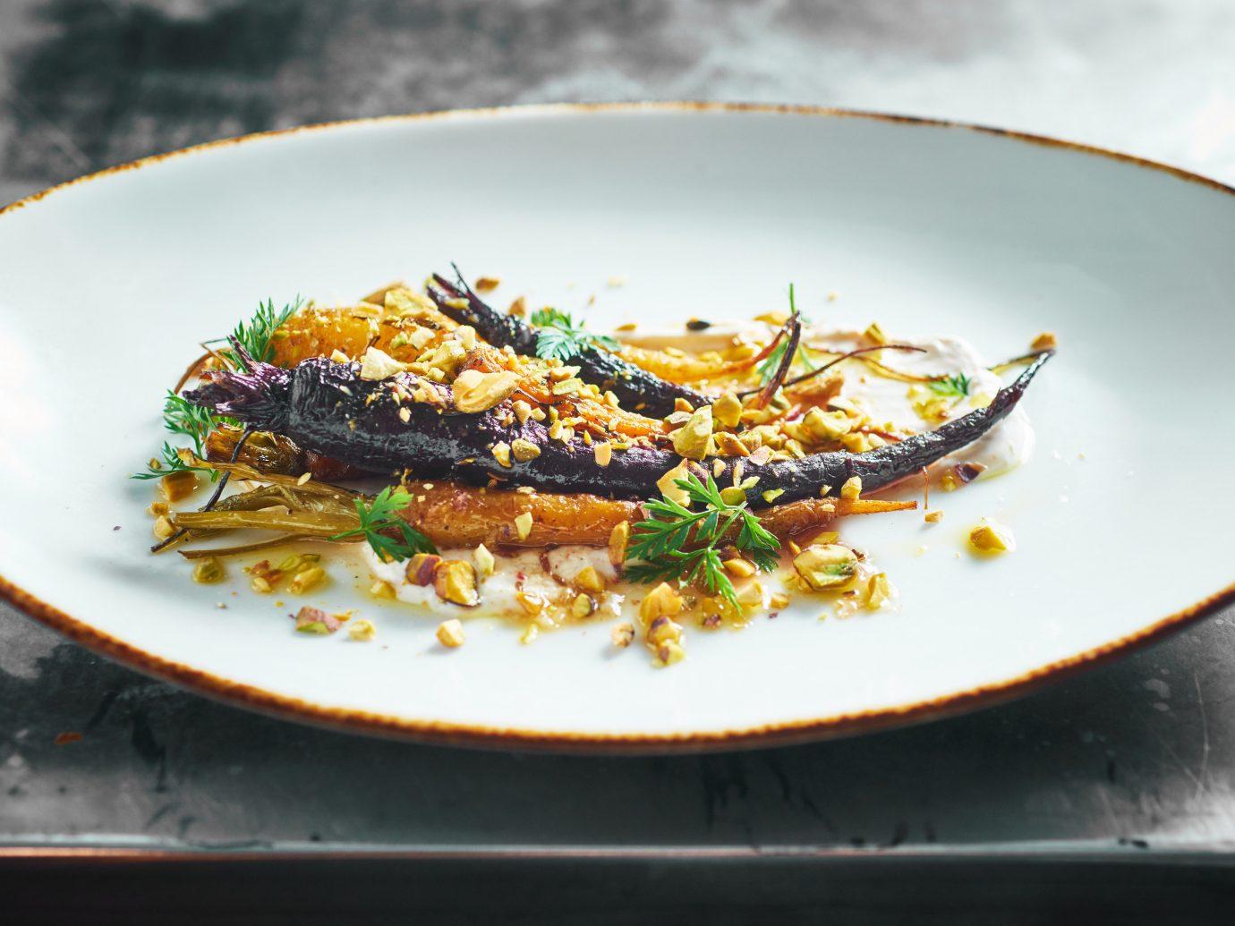 Food + Drink Romantic Getaways Weekend Getaways food plate dish cuisine vegetarian food recipe meat eaten piece de resistance